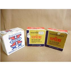 ASSORTED LOT OF 12 GA X 2 3/4 SHOTGUN SHELLS VARIOUS SHOT SIZES