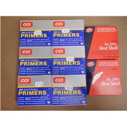 ASSORTED LOT OF SHOT SHELL PRIMERS INCLUDES CCI 209 AND FEDERAL 209A