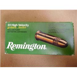 REMINGTON 22 HIGH VELOCITY GOLDEN BULLET HOLLOW POINT RIMFIRE