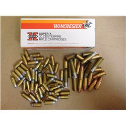 ASSORTED LOT OF AMMUNITION INCLUDING 222, 32 AUTO AND VARIOUS RNDS