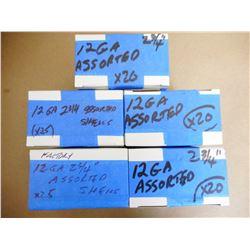 ASSORTED LOT OF 12 GA X 2 3/4 SHOTGUN SHELLS