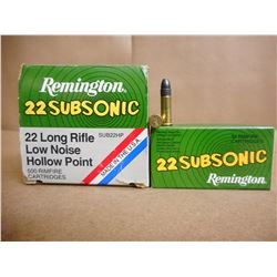 REMINGTON 22 SUBSONIC 22 LR LOFW NOISE HOLLOW POINT RM