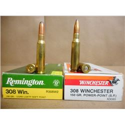 ASSORTED LOT OF .308 WIN INCL. FEDERAL  AND WINCHESTER