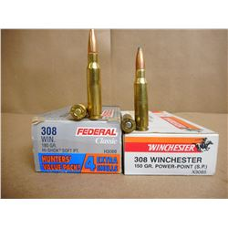 ASSORTED LOT OF .308 WIN INCL. REMINGTON AND WINCHESTER