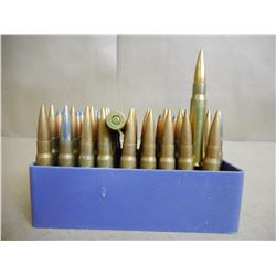 ASSORTED LOT OF 8 MM AMMO IN PLASTIC CASE