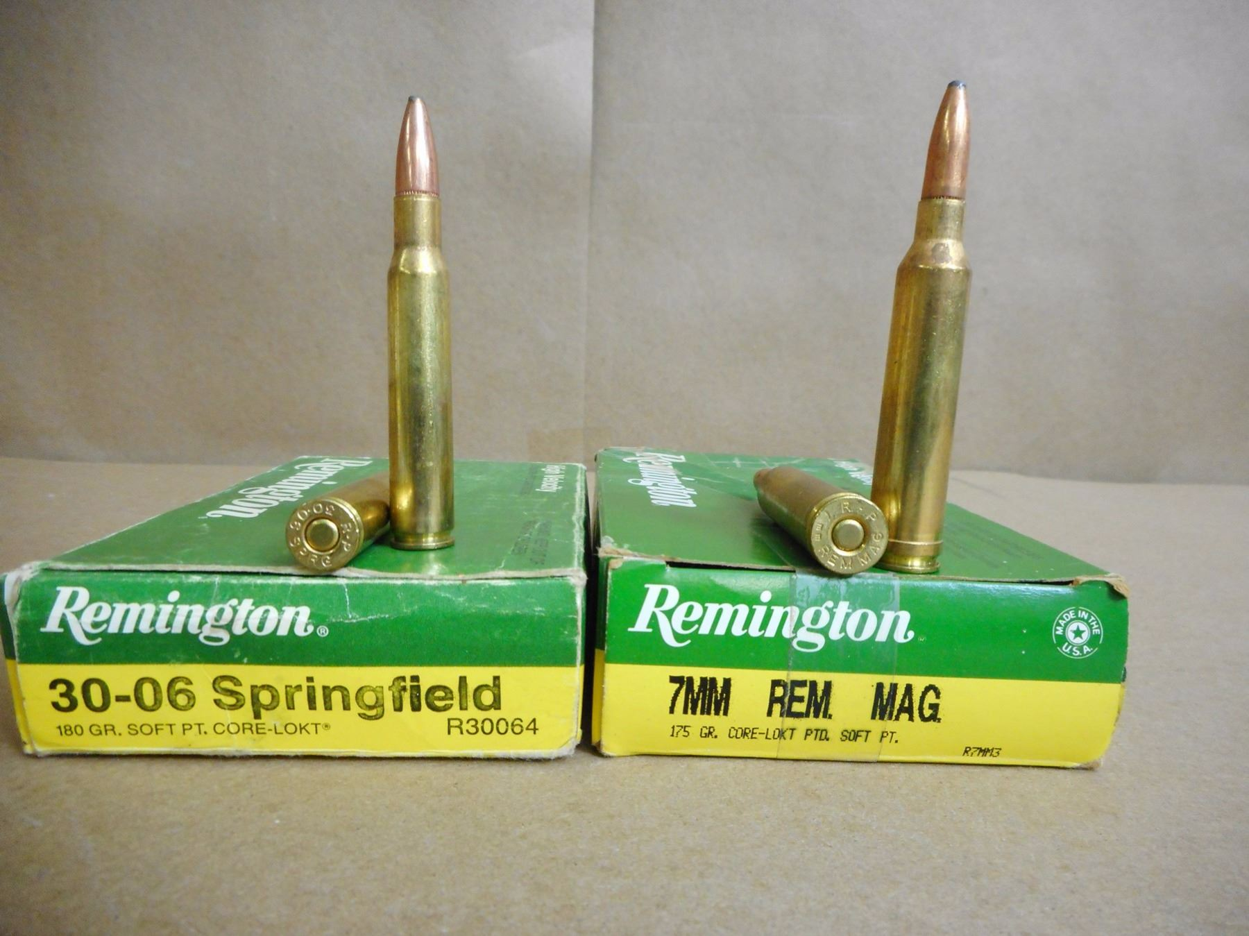 ASSORTED LOT OF AMMO INCL  7MM REM MAG, AND 30-06 SPRINGFIELD