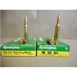 ASSORTED LOT OF AMMO INCL. 7MM REM MAG, AND 30-06 SPRINGFIELD