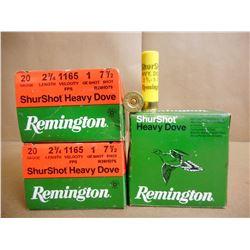 REMINGTON SHUR SHOT HEAVY DOVE 20 GA X 2 3/4 SHOT GUN SHELLS