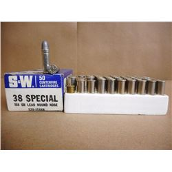 ASSORTED LOT OF 38 SPL INCL. S&W AND WIN. RELOADS
