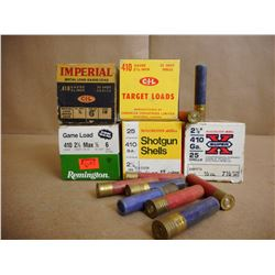 ASSORTED LOT OF 410 GA X 2 1/2 INCL. CIL TARGET LOAD, GAME LOAD SPECIAL LONG RANGE ETC.