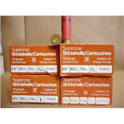 SUPREME SHOTSHELLS 12 GA X 2 3/4 7.5 AND 8 SHOT SIZE