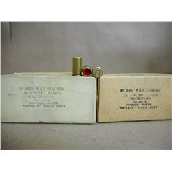 38 CALIBER RED WAD LOADED POWER CARTRIDGES