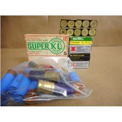 ASSORTED LOT OFG 12 GA X 2 3/4 VARIOUS SHOT SIZES & SLUGS