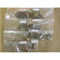ASSORTED LOT OF AMMO INCL 25-20, 35 RF, 38 LONG,38 S&W, 40 S&W, RF, 5.45X18 MPT AND 2 PIN FIRE MK9 E
