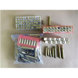 ASSORTED LOT OF PRIMED AND UNPRIMED CASINGS INCL..38, .300, .303, .308, 30-30