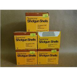 SUPREME 12 GA X 2 3/4 SHOTGUN SHELLS VARIOUS SHOT SIZES