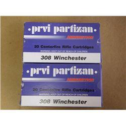PRVI PARTIZAN .308 WINCHESTER SP 180 GR