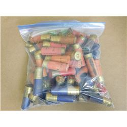 ASSORTED LOT OF PAPER AND PLASTIC 12 GA SHOTGUN SHELLS VARIOUS TYPES AND SHOT SIZES