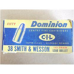 CIL DOMINION 38 S & W 145 GR LEAD BULLET