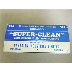 """CIL SUPER CLEAN .22 LR GREASED STAMPED """"PROPERTY OF CANADIAN GOVERNMENTE"""