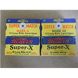 WESTERN .22 LR 3 FULL BOXES PLUS ONE EMPTY COLLECTABLE