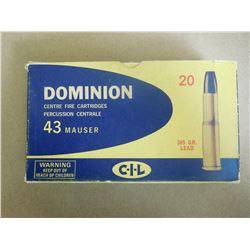 DOMINION 43 MAUSER 385 GR LEAD