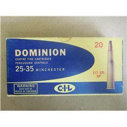 DOMINION 25-35 WINCHESTER 117 GR SP