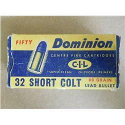 DOMINION CIL 32 SHORT COLT 80 GR LEAD BULLET