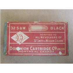 DOMINION CARTRIDGE 32 S & W BLACK C.F.
