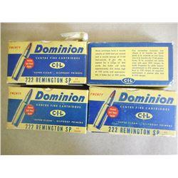 CIL DOMINION 222 REMINGTON 50 GR SP