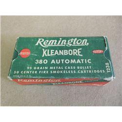REMINGTON KLEANBORE 380 AUTOMATIC 95 GR METAL CASE BULLETS