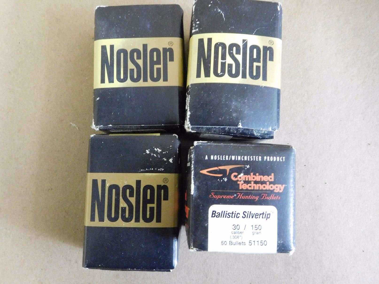 ASSORTED LOT OF NOSLER  30 CAL/ 150-180 GRS 270 CAL 150 GRS BULLETS