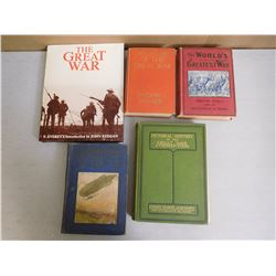 THE GREAT WAR HARDCOVER BOOKS