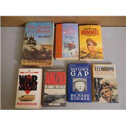 ASSORTED WAR STORYS & BOOKS
