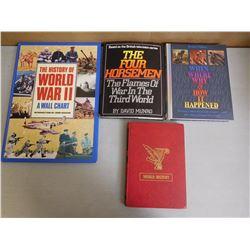 ASSORTED WAR & HISTORY BOOKS