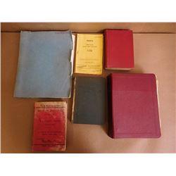 ASSORTED MANUELS AND POCKET BOOKS