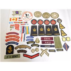ASSORTED BADGES AND RIBBONS
