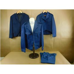MILITARY JACKETS - BLUE SOLID