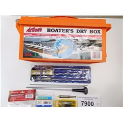 DRY BOX WITH GUN CLEANING ACCESSORIES