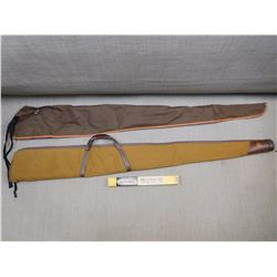 ASSORTED SOFT RIFLE BAGS & BORE BRITE