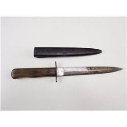 UNKNOWN FIXED BLADE KNIFE AND SHEATH