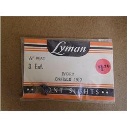 "LYMAN 1/16"" IVORY FRONT SIGHTS"