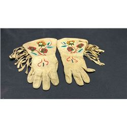 Plateau Beaded Gauntlets 1900's