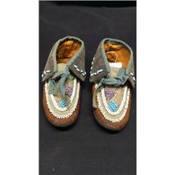 Iroquois Beaded Moccasins 1890's
