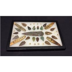 Arrowheads And Scrimshaw Items