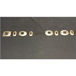 Navajo Coin Silver Belt