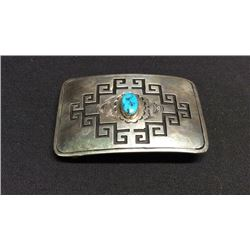 Native American Sterling Silver & Turquoise Belt