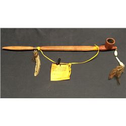 Native American Made Crow Pipe
