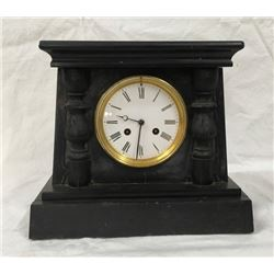 Black Marble 8 Day Spring Driven Mantel Clock