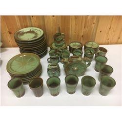 Large Set Of Frankoma Pottery Dinner Servicer